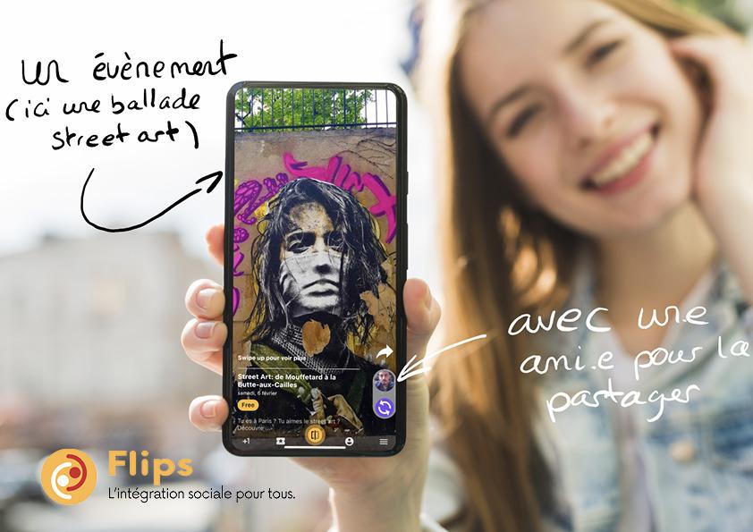 Retrouve une vie sociale avec l'application Flips