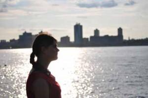 Elodie en voyage à New York, août 2013