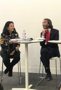 Amal El Fallah Seghrouchni et Cédric Villani présents lors de la conférence de l'EPITA.