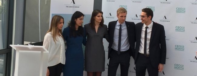 Les 5 finalistes de l'opération CEO for One Month (de gauche à droite : Arielle, Juliette, Kathleen, Maxime, Alexandre)