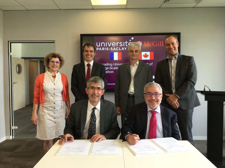 L'Université Paris-Saclay et l'Université McGill (Canada), partenaires pour la formation et la recherche