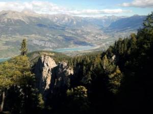 Le lac de Serre-Ponçon que les concurrents découvriront le J1