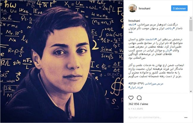 Hommage à Maryam Mirzakhani
