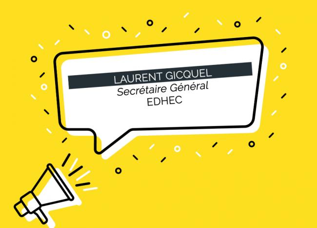 Laurent Gicquel est nommé Secrétaire Général de l'EDHEC