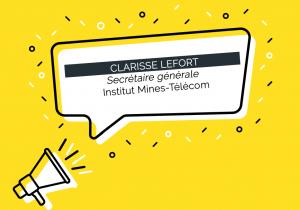 Clarisse Lefort nommée Secrétaire générale de l'Institut Mines-Télécom (IMT) / (c) adobestock