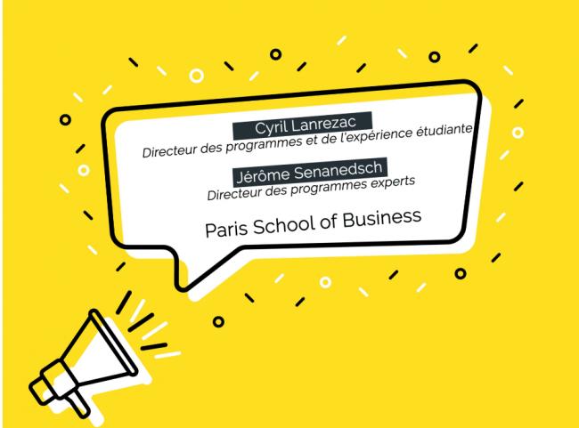 Nominations à PSB (Paris School of Business) : Cyril Lanrezac, directeur des programmes et Jérôme Senanedsch, directeur des programmes experts