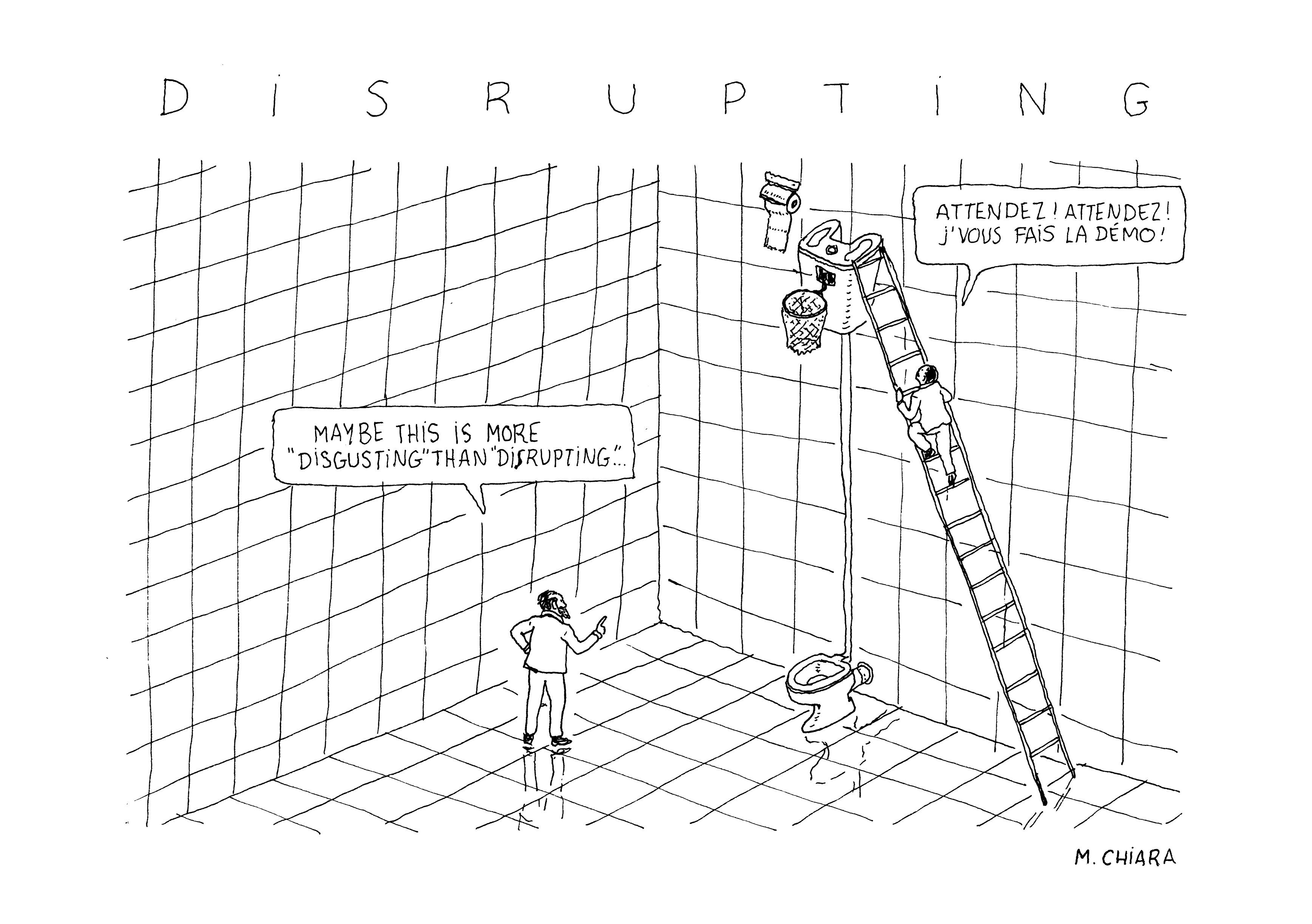 Illustration Matthieu Chiara dictionnaire innovation Mines