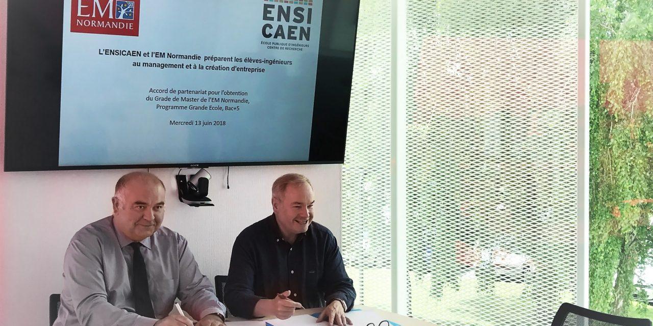 L'ENSICAEN et l'EM Normandie préparent les élèves-ingénieurs au management et à la création d'entreprise