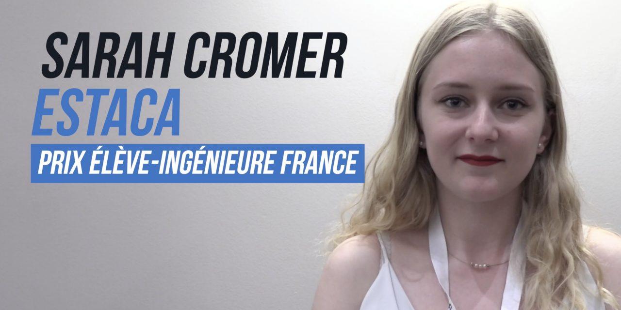 [VIDÉO] Portrait de Sarah Cromer, lauréate «Élève Ingénieure France» des Ingénieuses 2019