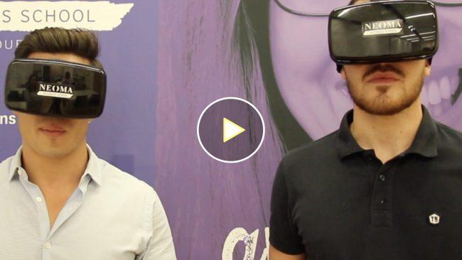 Le Journal des Grandes Écoles et Universités s'initie à la réalité virtuelle chez Neoma Business School