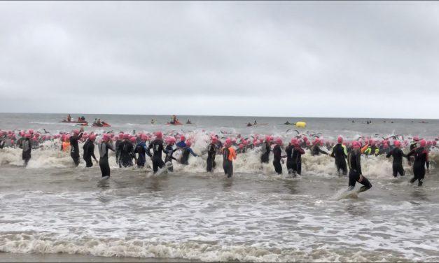 Triathlon Audencia-La Baule pluvieux, triathlon heureux !