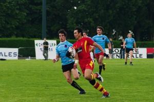 Match entre la Chine  et La Rochelle lors de l'édition 2009