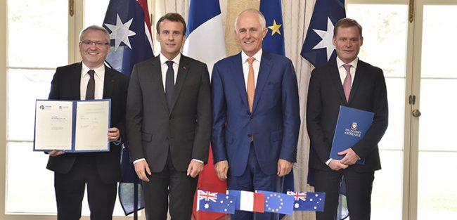 ENSTA Bretagne : signature à Sydney d'un double diplôme ENSTA Bretagne / Université d'Adélaïde en génie maritime (navires de surfaces et sous-marin) en présence d'Emmanuel Macron