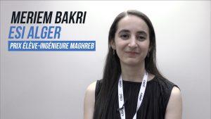 """Meriem Bakri, lauréate """"Élève Ingénieure Maghreb"""" des Ingénieuses 2019"""