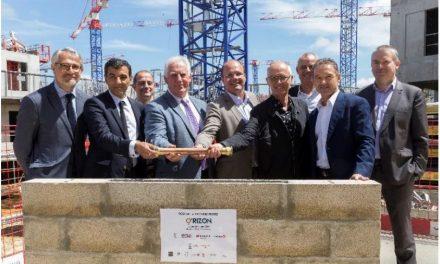 Pose de la 1ère pierre d'O'rizon, le premier programme résidentiel du Campus scientifique, économique et urbain de Paris-Saclay