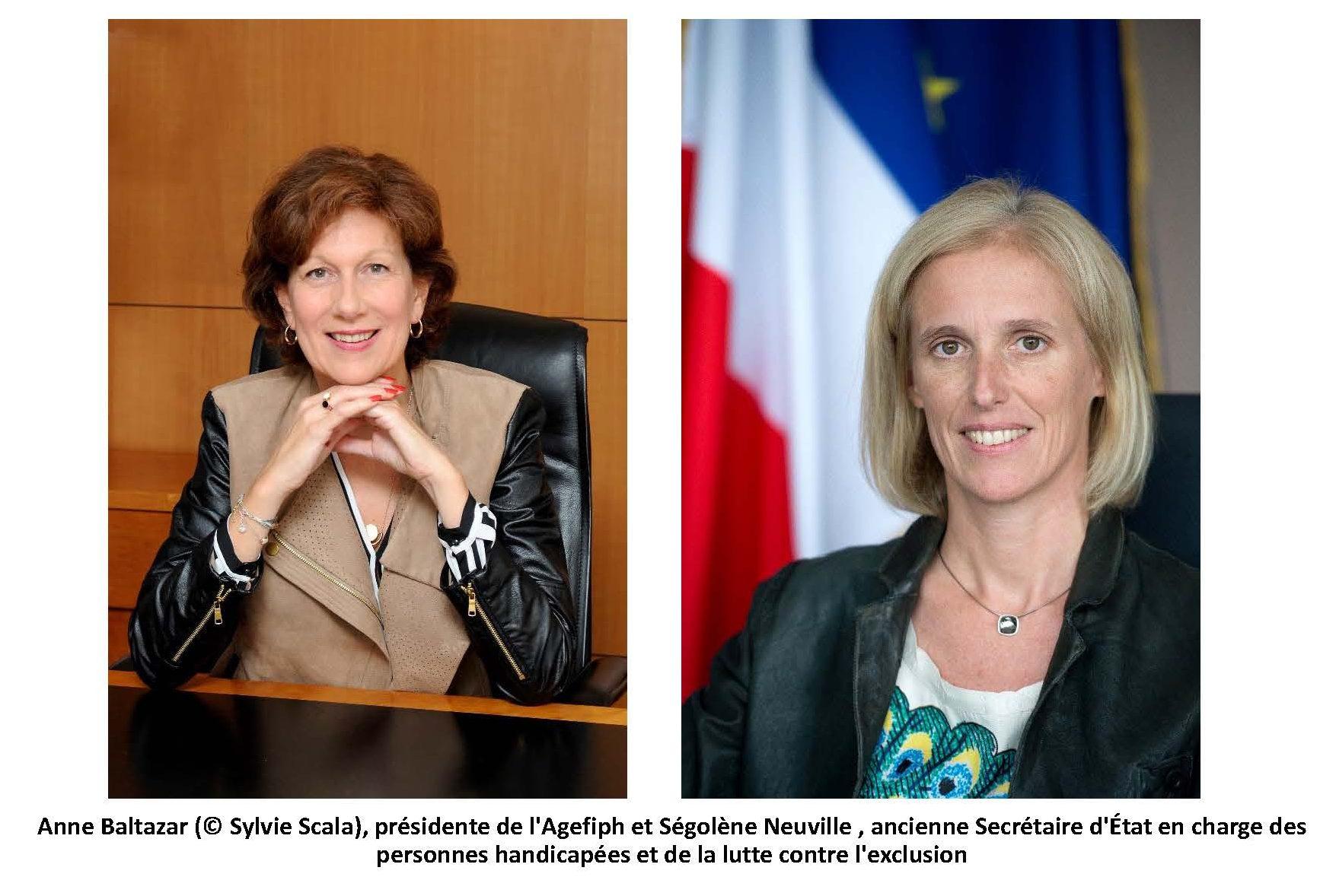 Ségolène Neuville et Anne Baltazar sur le Handicap