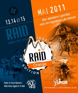 Affiche 2011 du Raid INSA Lyon - Orange