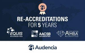 La triple couronne d'Audencia est reconduite pour les 5 prochaines années (c) Audencia