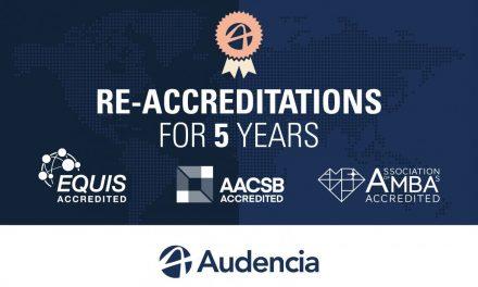 La triple couronne d'Audencia est reconduite pour les 5 prochaines années