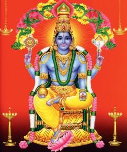 Dhanvantari est un avatar de Vishnu, selon la tradition hindoue. Il apparaît dans les textes sacrés comme le médecin des dieux, et le dieu de la médecin ayurvédique.