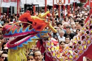 "Nouvel An chinois dans le quartier de Liberdade, ""Little Tokyo""/ ""Chinatown"" local (São Paulo), photo de Rafaella Finci pour Guia da semana"