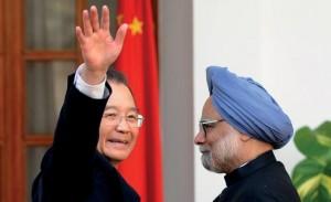 Wen Jiabao, premier ministre chinois et Manmohan Singh, son homologue indien