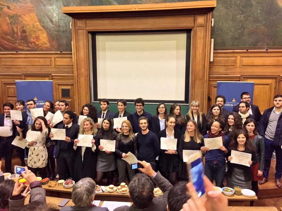 Remise de diplômes à la Sorbonne