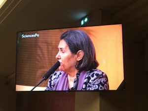 Rula Ghani à Sciences Po Paris le 13 octobre 2017