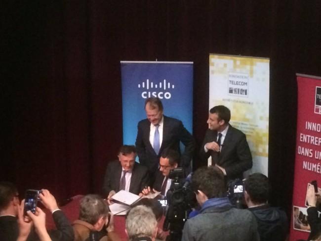 Télécom ParisTech et Cisco lancent la chaire NewNet@Paris