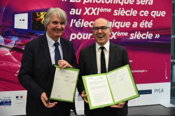 Signature d'un accord-cadre entre l'Institut d'Optique Graduate School et l'université de Bordeaux