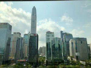 L'une des nombreuses skylines de Shenzhen, la ville a poussé en hauteur !