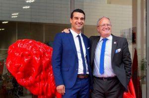 Tawhid Chtioui et Bernard Belletante, dirigeants d'emlyon business school (c) Ariane Despierres-Féry