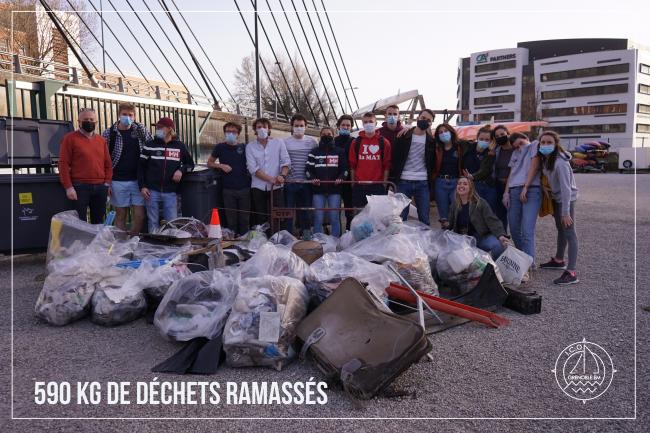 L'association I.C.O. de GEM ramasse près de 590 kg de déchets !