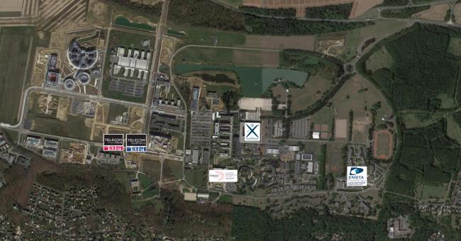 Vue aérienne campus Saclay NewUni, 5 écoles membres